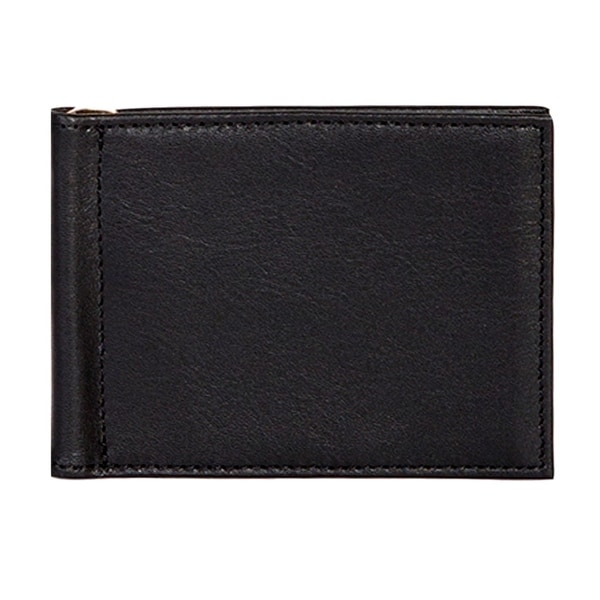 Scully Western Wallet Buttercalf Leather Money Clip Black - One size