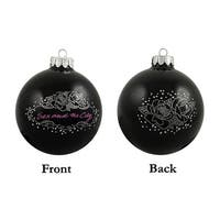 HBO Sex And The City Black Rose Glass Ball Christmas Ornament 4""