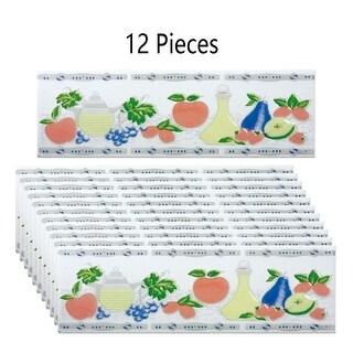 12 Pcs Ceramic Multi-Colored Tile 3 x 10