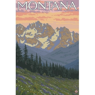 Montana - Spring Flowers - Lantern Press Artwork (Playing Card Deck - 52 Card Poker Size with Jokers)