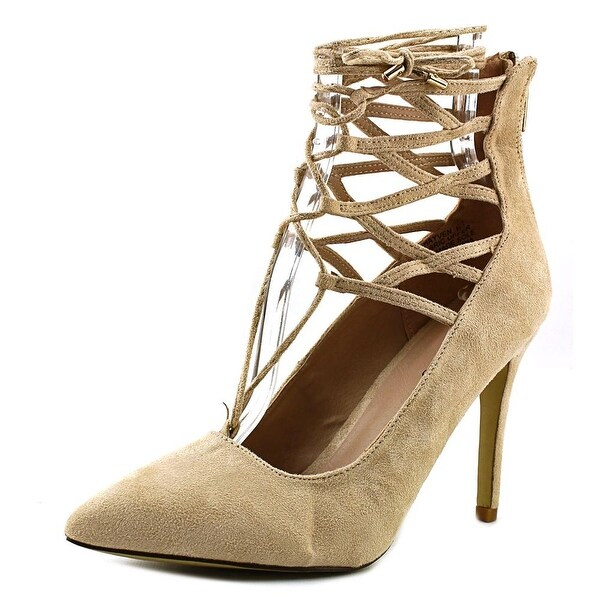 Zigi Soho Hayven Women Pointed Toe Synthetic Tan Heels