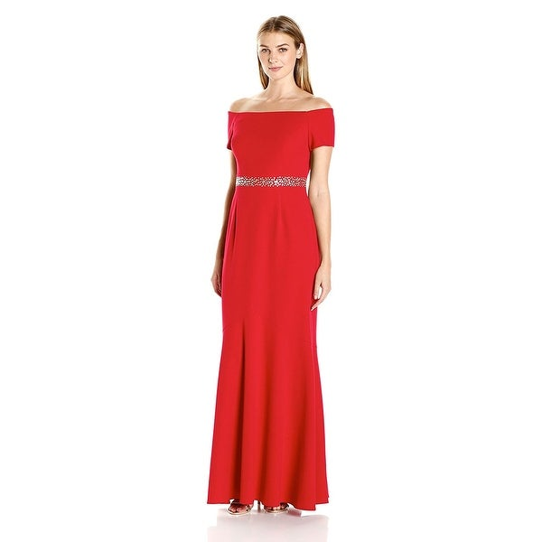 Alex Evenings Off The Shoulder Embellished Mermaid Evening Gown ...