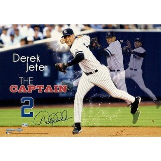 Derek Jeter The Captain 14x20 Panoramic Collage MLB Auth