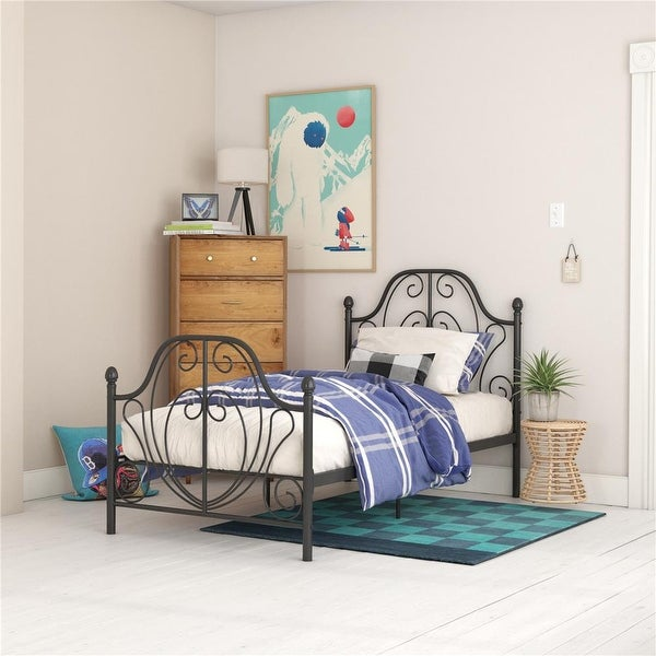 Copper Grove Yangiobod Scrollwork Metal Bed. Opens flyout.