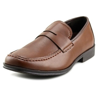 Kenneth Cole Reaction Club Step Youth Square Toe Synthetic Brown Loafer