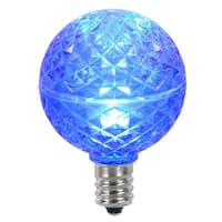 Club Pack of 25 LED G40 Blue Faceted Replacement Christmas Light Bulbs