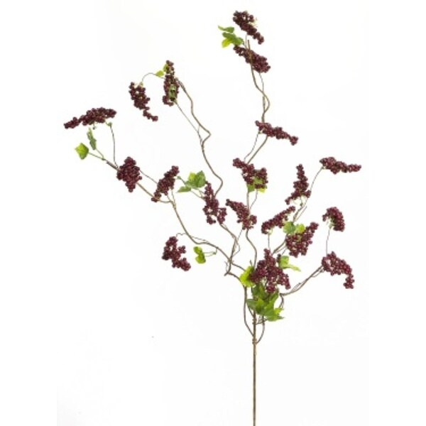 Pack of 6 Burgundy Berry and Twig Artificial Decorative Sprays 36""