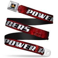 Power Rangers Logo Full Color Power Rangers Megazord Head Close Up Reds Seatbelt Belt