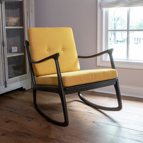 Armando Contemporary Rocking Arm Chair with Cushions
