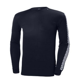 Helly Hansen Men's HH Lifa Stripe Long Sleeve Crew - 48800 - graphite blue