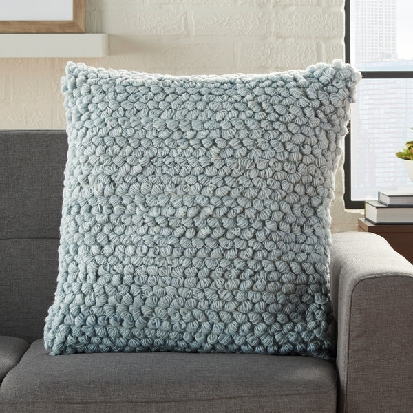 """Mina Victory Life Styles Loop Throw Pillow 20"""" Square. Opens flyout."""