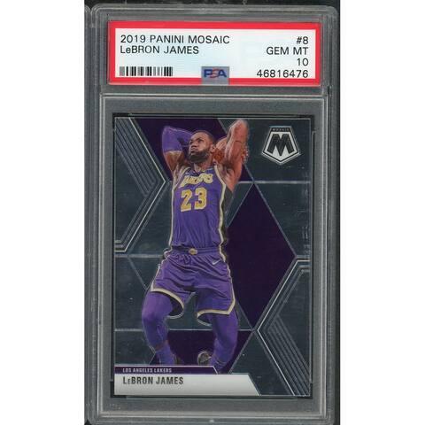 LeBron James 2019 Panini Mosaic Basketball Card 8 Graded PSA 10 GEM MINT - Multi - 5' x 8'