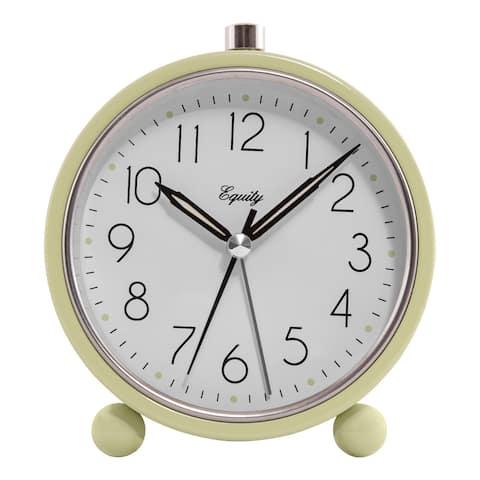 Equity 20090 Analog Quartz Alarm Clock with 5-Min Snooze