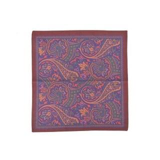 Altea Men's Silk Multicolor Paisley Print Pocket Square - S