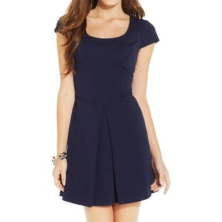 B. Darlin Womens Juniors Party Dress Pleated Cut-Out