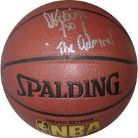 David Robinson signed NBA IndoorOutdoor Basketball The Admiral Beckett Hologram San Antonio Spurs