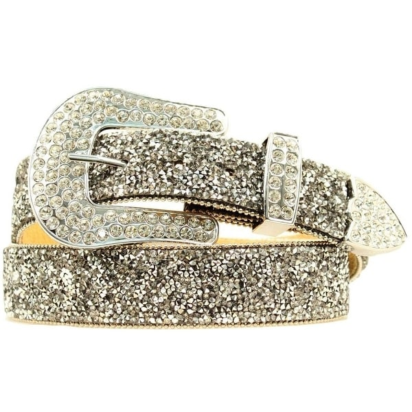 Ariat Western Belt Womens Clear Crystal Chips Black