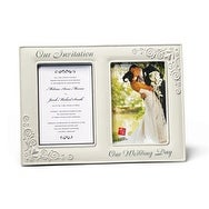 Russ Berrie Invitation and Wedding Picture Frame