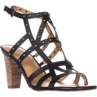 Franco Sarto Calesta Heeled Sandals, Black - 7.5 us / 37.5 eu
