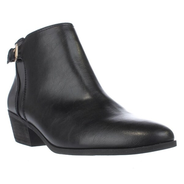 Dr. Scholl's Beckoned Buckle Ankle Boots, Black