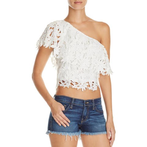 7db6ae4d283a79 Lush Womens Crop Top Lace Popover
