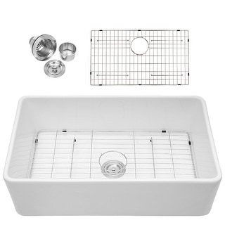 Link to Lordear 33 Inch Fireclay Farmhouse Single Bowl Kitchen Sink Similar Items in Sinks
