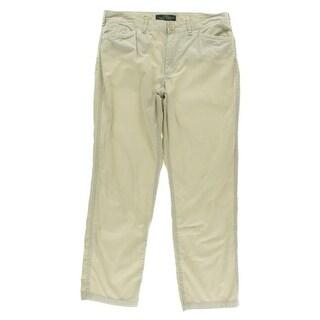 LRL Lauren Jeans Co. Womens Poplin Solid Chino Pants
