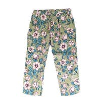 Lauren by Ralph Lauren Green Womens Size 16 Floral Pants Stretch