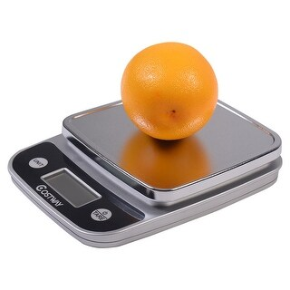Costway 11lb x 0.04oz LCD Digital Kitchen Weight Scale 5Kg x 1g Food Diet Postal Slim - Sliver