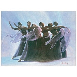 ''Steppin' Out (mini)'' by Lavarne Ross African American Art Print (6.5 x 8 in.)