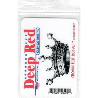 Deep Red Stamps Crown for Royalty Rubber Cling Stamp - 2.6 x 1.4