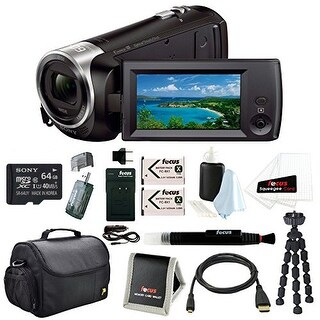 Sony HD Video Recording HDRCX405 HDR-CX405/B Handycam Camcorder (Black)+Sony 64GB Micro SD Memory Card+Camera Bag Bundle