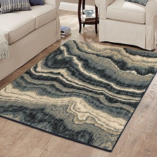 Link to Orian Rugs American Heritage Midnight Marble Blue Similar Items in Transitional Rugs
