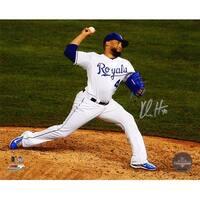 Kelvin Herrera Kansas City Royals 2015 World Series Pitching Action 8x10 Photo