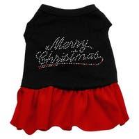 Merry Christmas Rhinestone Dress Black with Red XXXL (20)