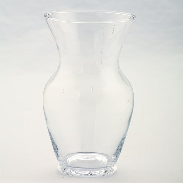 "7"" Clear Glass Flower Bud Vase Tabletop Decor - N/A"