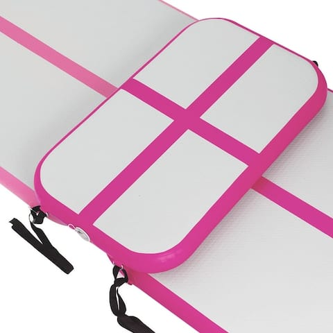 3.3' Inflatable Air Track Floor Gymnastics Mat with Pump