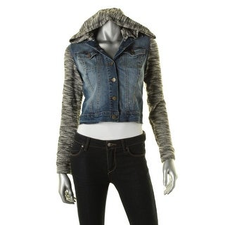 Jessica Simpson Women S Black Leather Scuba Jacket Free