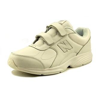 New Balance MW475 Men 4E Round Toe Leather White Walking Shoe