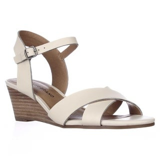 Lucky Brand Jaiden Wedge Sandals - Linen, 5.5 M US