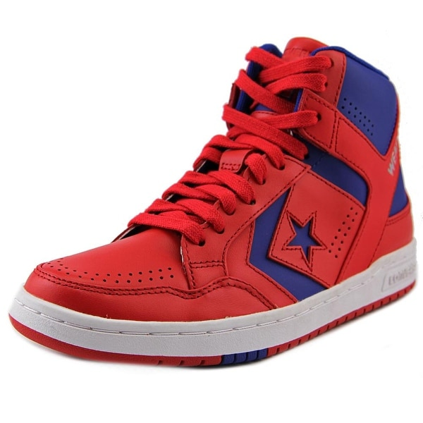 Converse Weapon Mid Men Round Toe Leather Red Sneakers