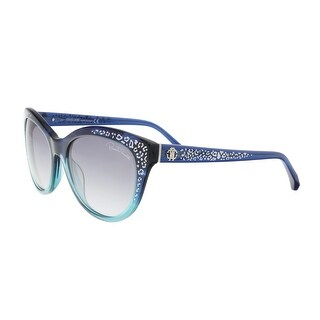 Roberto Cavalli RC992S 91B TSEANG Blue/Teal Cateye Sunglasses - 55-18-140