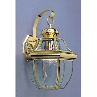 "Volume Lighting V9282 1 Light 14.5"" Height Outdoor Wall Sconce with Clear Bevele"