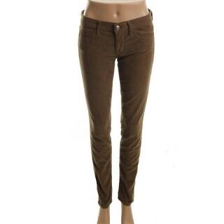 Vince Womens Corduroy Pants Flat Front Skinny Leg - 28