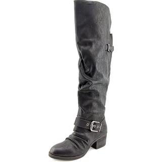 Carlos by Carlos Santana Emily Women Round Toe Synthetic Black Knee High Boot