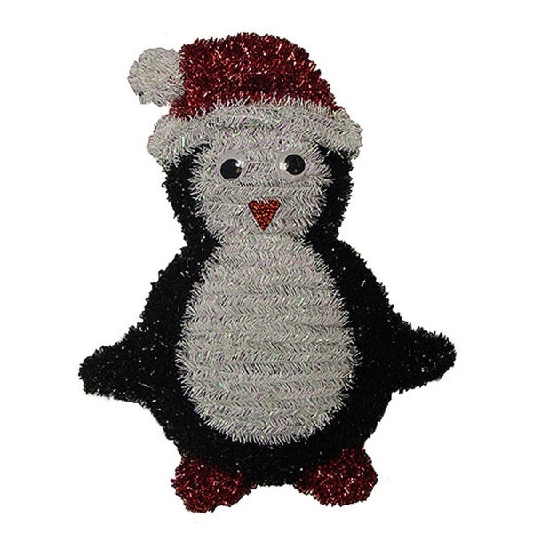 "18"" Shiny and Iridescent Penguin Hanging Christmas Decoration - multi"