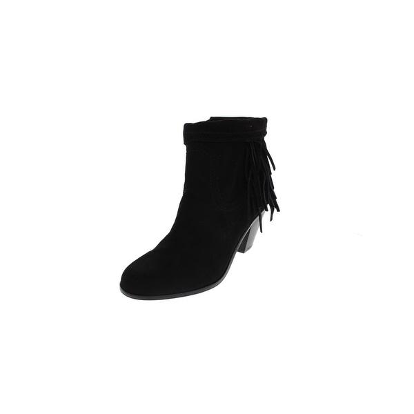 e6db3327959d Shop Sam Edelman Womens Louie Ankle Boots Fold Over Fringe - Free ...