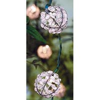 Living Accents 624FV11F Clear Wire Bead Globe Light Set, 7.5 ft. Long