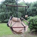 Sunnydaze Hanging Hammock Chair W/ Pillow & Drink Holder - Thumbnail 11