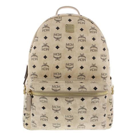 MCM Stark Backpack Studded Monogram - O/S